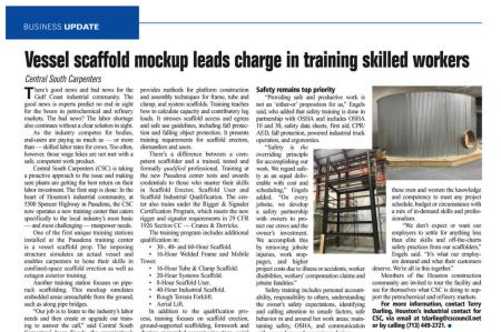Union Scaffolding Abilities Showcased in Southwest Construction Magazine